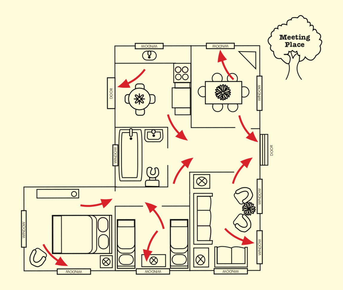 fire escape plan map