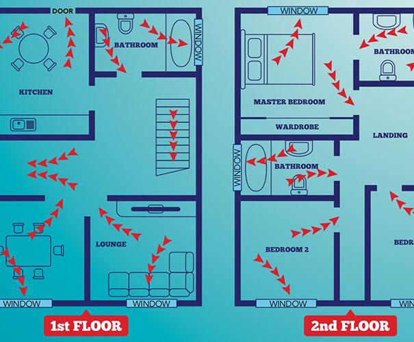 fire escape plan map