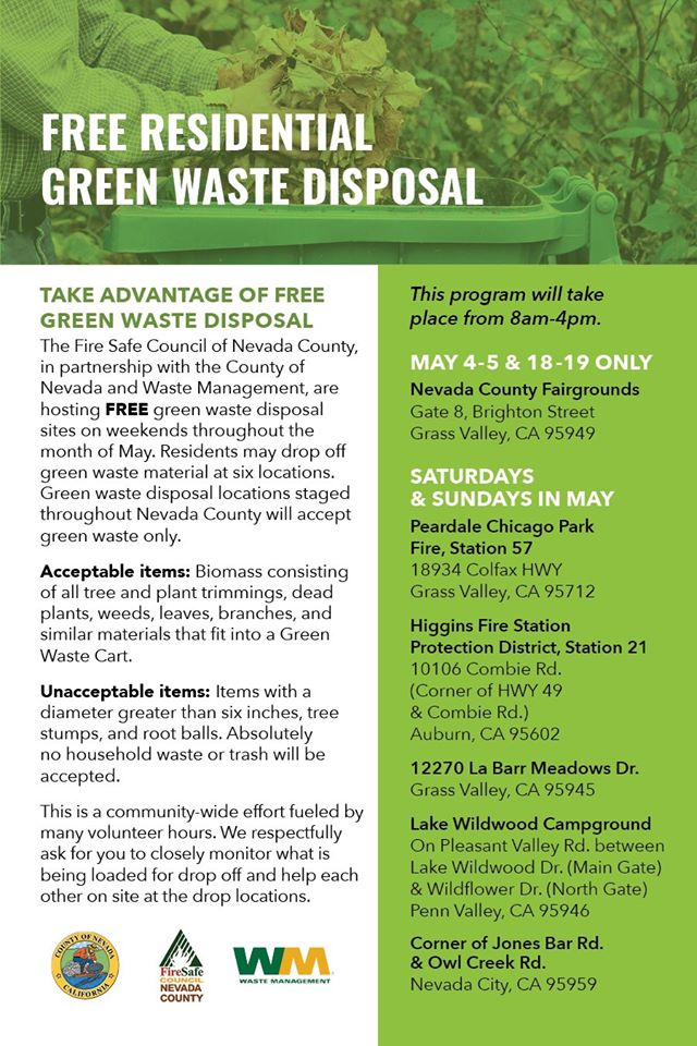 Free Residential Green Waste Disposal Flyer