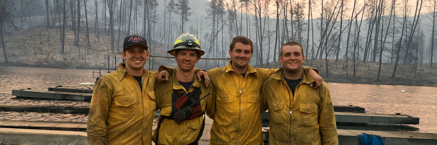pcpfire four firefighters after fire
