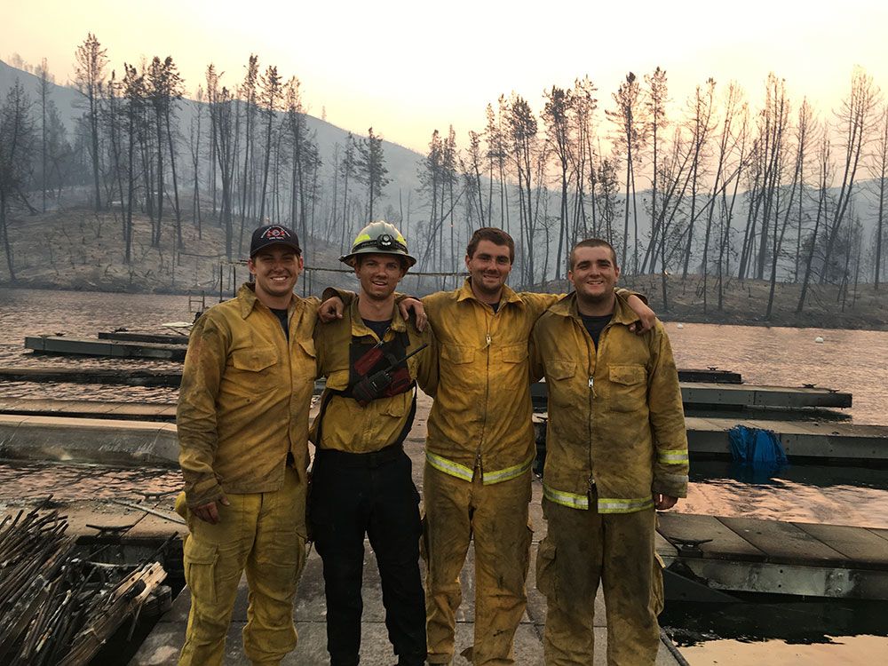 PCPFPD Strike Team Members After Wildfire