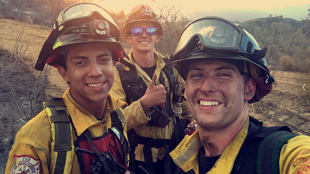 PCPFPD Strike Team Members at Wildfire
